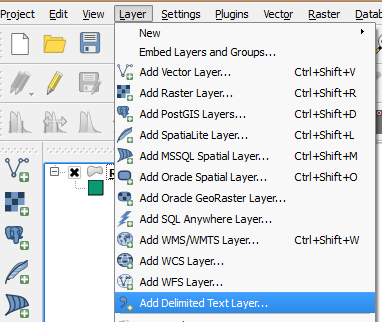 Create a Layer from Delimited Text File 00 Layer Add Delimited Text Layer