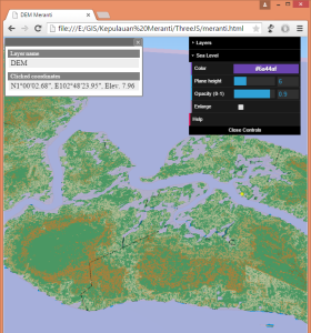 meranti QGIS three.js